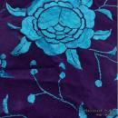 刺繍シージョ DPTQ-T 濃紫+ターコイズ刺繍